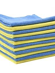 Тироль 12шт микрофибры для чистки автомобилей полотенце 40 * 40см двухцветный многофункциональный очистки мойка ткань
