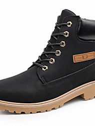 Men's Shoes Outdoor / Office & Career / Work & Duty / Dress / Casual Synthetic Boots Black / Yellow / Taupe