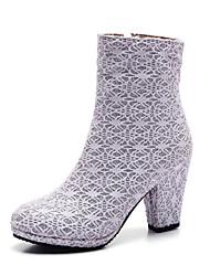 Women's / Girl's Wedding Shoes Heels Heels / Boots Wedding / Office & Career / Party & Evening / Dress Black / White /