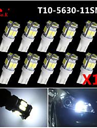 10x T10 W5W 192 168 194 7014 5730 11smd 11 feux de position LED lumière de coin 12v