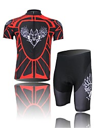Cycling Jersey with Shorts Men's Short Sleeve BikeBreathable / Ultraviolet Resistant / Moisture Permeability / Sunscreen / Compression /