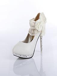 Women's / Girl's Wedding Shoes Heels Heels Wedding / Office & Career / Party & Evening / Dress Black / Almond