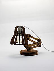 Bedroom Euro IKEA DIY Gift Creative Vintage Long Arm Wood Table Lamp Light
