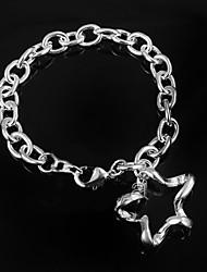 Femme Chaînes & Bracelets Argent sterling Mode Argent Bijoux 1pc