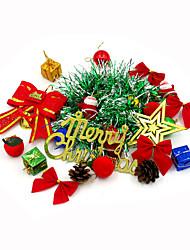 1package15pcs zufällige Farbe Weihnachtsdekoration Geschenke Rolle ofing Weihnachtsbaum Ornamente Weihnachtsgeschenk Weihnachtsdekoration