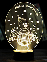 Luminous Christmas Snowman Valentine's Day Gift