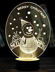 muñeco de nieve de Navidad luminoso regalo de San Valentín