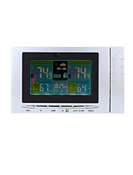Wireless Weather Station Clock Digital Temperature Humidity Meter Tester Thermometer Hygrometer Color Display