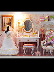 Diy House Hut Love You Forever Model Dream Villa DIY Dollhouse Including All Furniture Lights Lamp LED