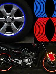 accesorios del coche moto cinta de polietileno tereftalato de la motocicleta pegatina rueda raya borde reflectante moda