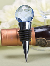 Crystal Chrome Bottle Favor Bottle Stoppers Garden Theme Silver