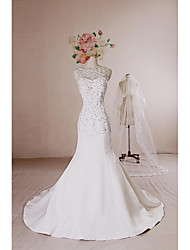 Wedding Dress - Ivory Court Train Lace / Satin / Tulle / Sequined