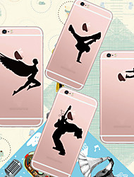 MAYCARI®Loving Sports Soft Transparent TPU Back Case for iPhone 6/iphone 6S(Assorted Colors)