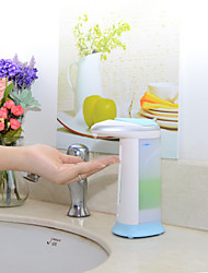 Automatic Touch-Free Soap Sanitizer Dispenser w/ Musical Chime - White + Blue (4 x AAA)