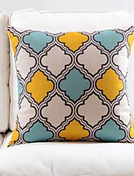 Geometric Cotton/Linen Decorative Pillow Cover
