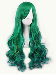 Europe and The United States the New Gradient Cosplay Anime Wigs COS The Original Green Color Female Long Hair Wigs