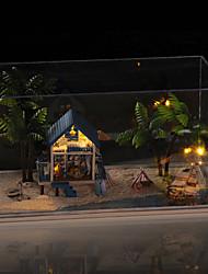 romantique cadeau d'anniversaire cadeau de noces modèle manuel de bricolage maison de poupée en bois Egée y compris toutes les lampes des