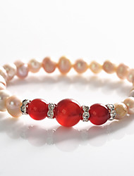 Korean Fashion  Drill  Ruby Pearl  Rosary Bracelet