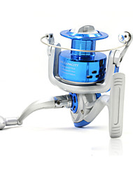 5000 6000 7000 Size 5.2:1 8 Ball Bearings Big Spinning Reels Left and Right Handle Exchangeable Blue Color