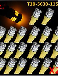 20x T10 W5W 192 168 194 7014 5730 11 11smd conduit lumières jaunes secondaires a mené la lumière de coin 12v