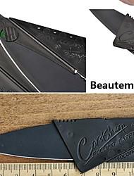 1pcs preto de aço inoxidável mini-segurança de cartão de crédito estilo faca dobrável novidade ferramenta ao ar livre