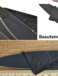 1pcsblack Edelstahl Mini Klappkreditkarte Stil Sicherheit Neuheit Messer Outdoor-Tool