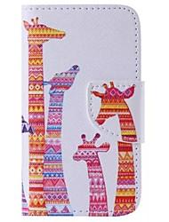 iphone 7 più colore giraffa dipinta cassa del telefono PU per iPhone 6S 6 Plus SE 5s 5c 5 4s 4
