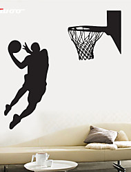 AWOO®   A Man Play Basketball  Wall Stickers Home Decor  Vinyl Stickers For Kids Room Decoration