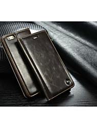 CaseMe Luxury Genuine Leather Wallet Card Slot Cover Flip Case With Stand For iPhone 5/5S (Assorted Colors)