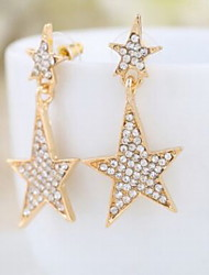 Delicate Starfish Set Drill Alloy Earrings