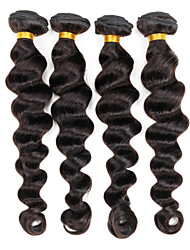 "Indian virgin hair loose body wave hair 1pcs/lot human loose wave hair 10""-30"" natural color 1b hair weaves"