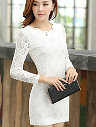 Women's Lace Callor Long Sleeve Dress