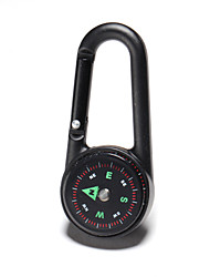 aluminio mosquetón clip de broche de gancho hebilla multifuncional con hebilla brújula para deportes al aire libre que va de excursión