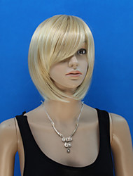 Europe And The United States New Golden Hair Ms Inclined Bang Bobo Head Wig