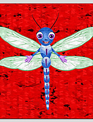 Children Oil Paintings Cute Dragonfly Style,Canvas Material With Wooden Stretcher Ready To Hang SIZE:70*70CM.