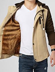 Men's Long Sleeve Jacket , Cotton Casual / Work / Formal / Sport / Plus Sizes Pure  cashmere winter warm thick cotton