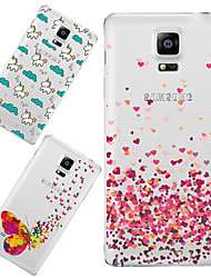 For Samsung Galaxy Note Pattern Case Back Cover Case Cartoon TPU Samsung Note 4
