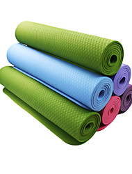 TPE Yoga Mats 183*80*0.6 Non Toxic (1/4 inch) 6 Blue / Green / Orange / Purple / Dark Purple #