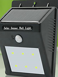 High Quality Solar 6 LED Light Waterproof Human Body Induction Lamp / Wall Lamp / Garden Courtyard Outdoor Lamp