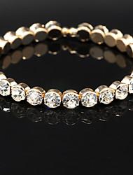 Charmes pour Bracelets / Bracelets Rigides / Bracelets de tennis / Bracelets Wrap 1pc,Doré Bracelet Alliage / Strass Bijoux Femme