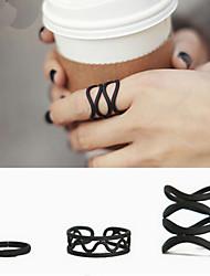Black Queen Adjustable Ring Set Midi Rings(Set of 3)