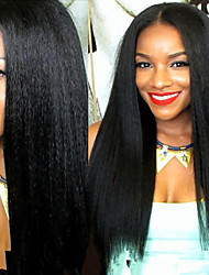 Premierwigs 8''-26'' Soft Kinky Straight Brazilian Virgin Glueless Full Lace Human Hair Wigs Glueless Lace Front Wigs 8A