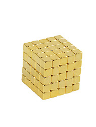 Toys Magnet Toys 125Pcs 5mm Executive Toys Puzzle Cube DIY Toys Magnetic Balls Gold Education Toys For Gift