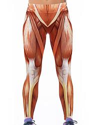 Women's Stretch Muscle 3D Print Yoga Leggings