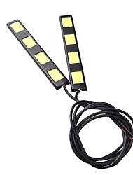 2pcs 12cm 8w épi 4 LED voiture diurne barre lumineuse DRL Lampe de conduire (DC12V)