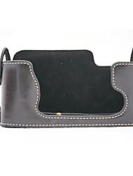 dengpin® pu étui en cuir moitié de la caméra de base sac de couverture pour Fujifilm X-e1 x-e2 XE1 XE2 (couleurs assorties)