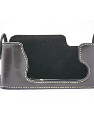 dengpin® PU-Leder halb Kamera Tasche Abdeckung Basis für Fujifilm X-e1 x-e2 xe1 XE2 (verschiedene Farben)