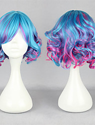 Lolita Wigs Sweet Lolita Blue Color Gradient Lolita Wig 30 CM Cosplay Wigs Patchwork Wig For