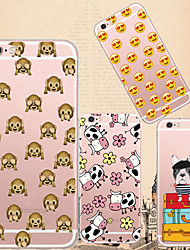 For iPhone 7 MAYCARI®Collecion of Emoji Soft Transparent TPU Back Case for iPhone5/iPhone 5S