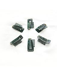 100pcs 36mm 10-dientes clips del pelo / peluca accesorios para la extensión del pelo 5colors en stock